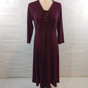 Torrid Dress - Deep Merlot - Size 0 (Large) NWT